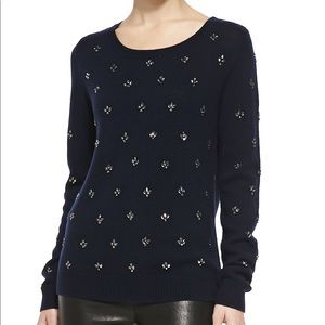 Joie Myron Embellished Wool and Cashmere Sweater